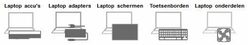 laptop-toetsenbord-accu-scherm-onderdelen